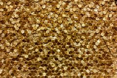 A close-up of a luxury golden wall decoration pattern Royalty Free Stock Images