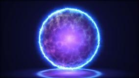 Close up mágico da lâmpada Energia dentro da esfera ilustração 3D ilustração royalty free