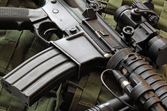 Close-up of M4A1 (AR-15) carbine Stock Image