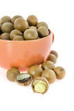 Close up  macadamia Royalty Free Stock Photography