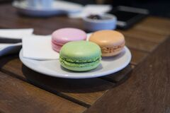 Close-up of Macaroons stock photos