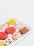 Close up macaroons animal and heart shape Stock Photos