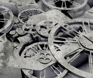 Close-up machine. Mechanism. 3D concept Stock Images