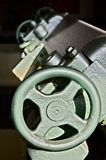 Close up of a machine detail, wheel stock photography
