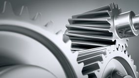 Close up of machine gears. Stock Images