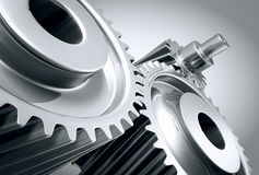 Close up of machine gears. Royalty Free Stock Photo