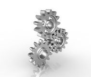 Close-up of Machine Gears. Shallow focus Stock Photography
