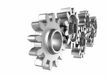 Close-up of Machine Gears. Shallow focus Royalty Free Stock Image