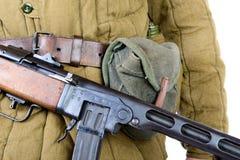 Close-up on the machine gun Royalty Free Stock Image