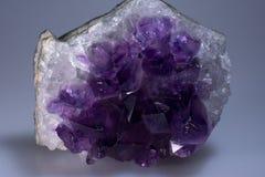 Close-Up Macro Amethyst Crystal. Close-Up Macro Cluster of  Amethyst Crystal Royalty Free Stock Images