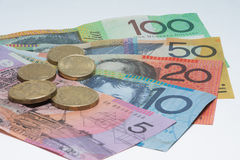 Close Up Macro Australian Notes Money Royalty Free Stock Image