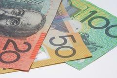 Close Up Macro Australian Notes Money Royalty Free Stock Photography