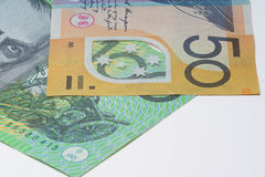 Close Up Macro Australian Notes Money Stock Photo