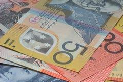 Close Up Macro Australian Notes Money Stock Photos