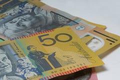 Close Up Macro Australian Notes Money Stock Photo