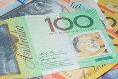 Close Up Macro Australian Notes Money Royalty Free Stock Photo