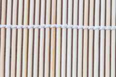 Close up macro of beige brown bamboo mat Stock Photography