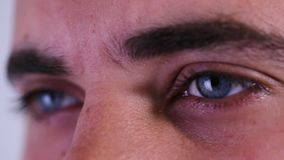 Close up or macro of an eyes of a doctor