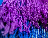 Close up of Purple and Blue Tassles stock photos