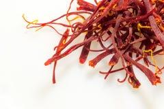 Close up macro de especiarias do açafrão Fotografia de Stock Royalty Free