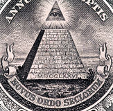 Close up macro detail of dollar money banknotes. Toned Stock Photography