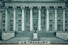 Close up macro detail of dollar money banknotes. Toned Stock Photos