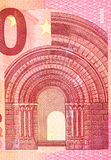 Close up macro detail of euro money banknotes. High resolution photo Royalty Free Stock Photo