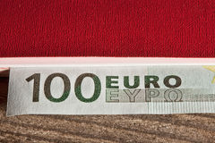 Close up macro detail of euro money banknotes Stock Photos