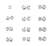 Close Up Macro Dice. Close up of Dice. Numbers Concept Royalty Free Stock Image