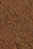 Close up macro do relvado da turfa, grande solo orgânico marrom detalhado do húmus fotografia de stock royalty free