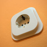 Close up macro of European electricity power outlet plug Stock Photography