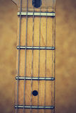Close up macro of guitar strings vintage style Stock Photo