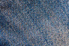 Close up macro jeans cotton texture Royalty Free Stock Photography