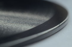 Close up Macro Old Chipped Vinyl Disc Record_3 Royalty Free Stock Photo