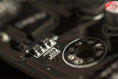 Close up macro of a PCB circuit board Stock Photo