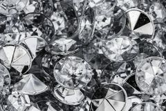 Diamonds close up. Close up macro photograph of sparkly silver and white diamonds stock photography