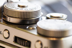 Close up macro retro camera Royalty Free Stock Images