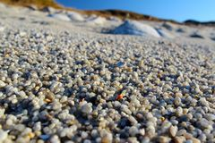 Close-up macro of sand on beach with copy space Stock Photos