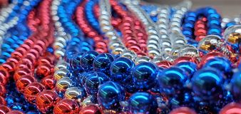 A close up of american flag beads royalty free stock photography