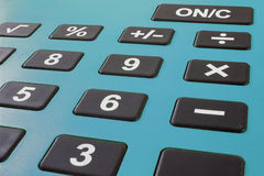 Close up macro shot of calculator. Savings calculator. Finance calculator. Economy and home concept. Credit card calculator. Credi Stock Images