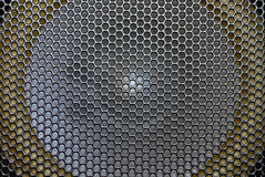 Close up of macro shot of a speaker Royalty Free Stock Images