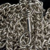 Close Up- Macro, Still Life image of Chain and clip. Stock Image