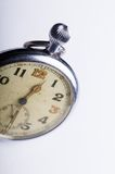 Old scuffed pocket watch macro detail Stock Photography