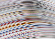 Close up Magazine. Magazine Pages filling the frame Royalty Free Stock Image