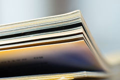 Close-up of magazine pages. Stock Photos