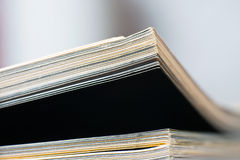 Close-up of magazine pages. Royalty Free Stock Photos
