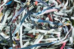 magazine paper shredded form paper shredder machine close up background royalty free stock photography