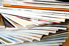 Close up of magazines. Close- up of batch of magazines Royalty Free Stock Images