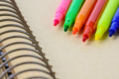 Close up of Magic pen on notebook Stock Images