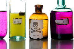 Close-up magic spells and poison. Royalty Free Stock Photos